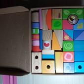 Деревянные кубики конструктор 40 деталей