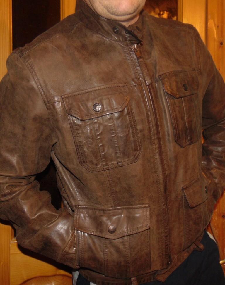 Брендовая стильная кожаная курточка Zara  л фото №1