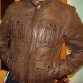 Брендовая стильная кожаная курточка Zara  л