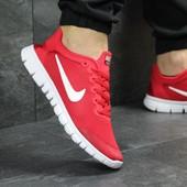 Кроссовки мужские сетка Nike Free Run 3.0 red