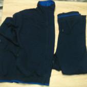 Спортивный костюм на флисе мужской синий размер 60