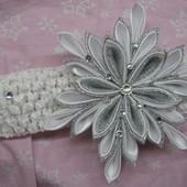 Снежинка №5 серебро на повязке