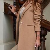 Размеры 42-48 Стильное женское кашемировое пальто