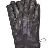 Мужские кожаные перчатки на махре