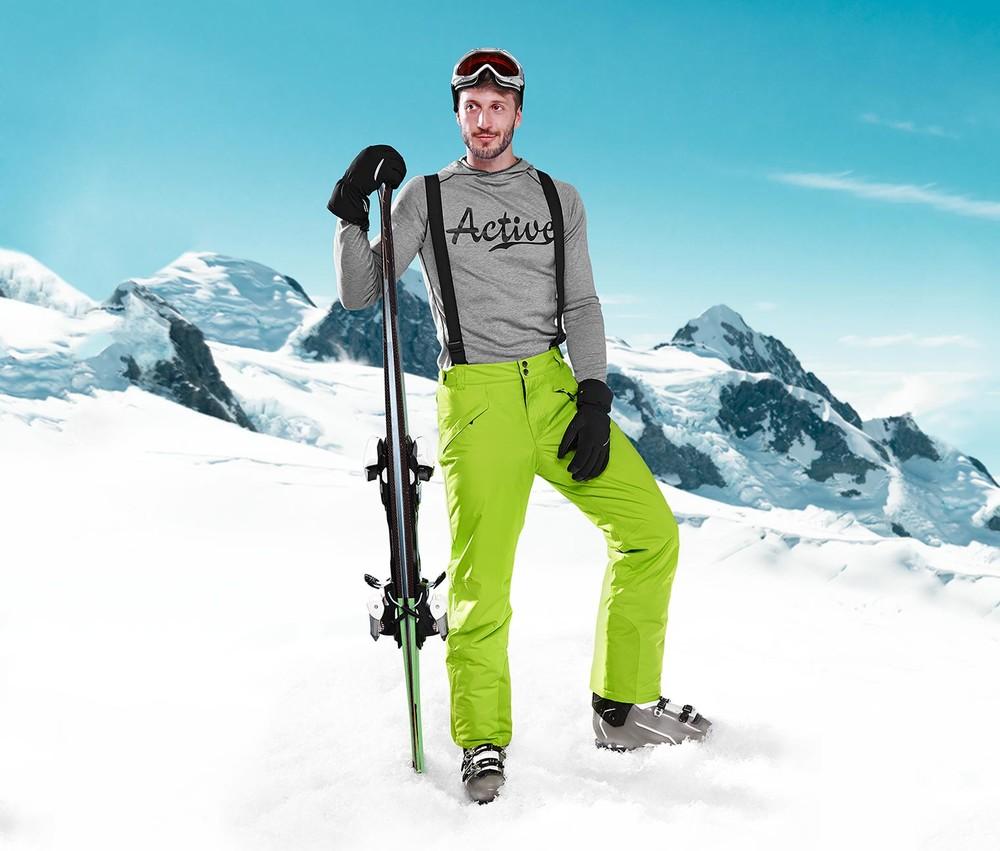 Теплые лыжные зимние брюки штаны XL тсм Tchibo Германия фото №1