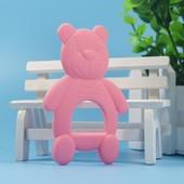 Силиконовый прорезыватель 'Мишка' BeaRoom Китай розовый 1203136