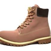 Стильные мужские ботинки из нубука - Зима (СА-4)