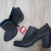 Новые италия marco tozzi туфли,ботинки серые 37р/23,5см