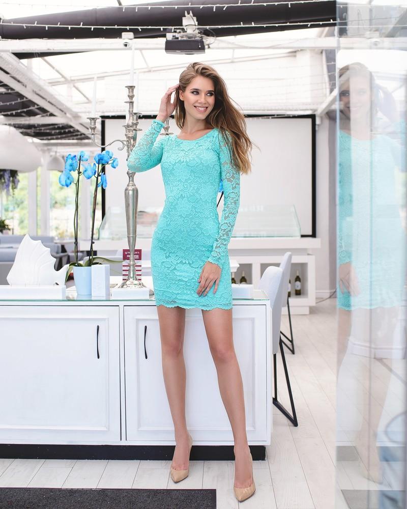 Кружевное  платье (40-46рр)  9 цветов в наличии фото №1
