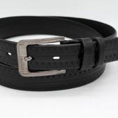 Кожаный ремень 35 мм чёрный