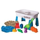 Kinetic Sand Набор кинетический песок со столиком и пасочками presents the activity table set