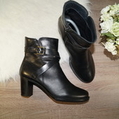 (41р./27см) Ecco! Кожа! Безупречные базовые ботинки на устойчивом каблуке с ремешками