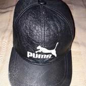 Кожаная кепка фирменная Puma 56-58