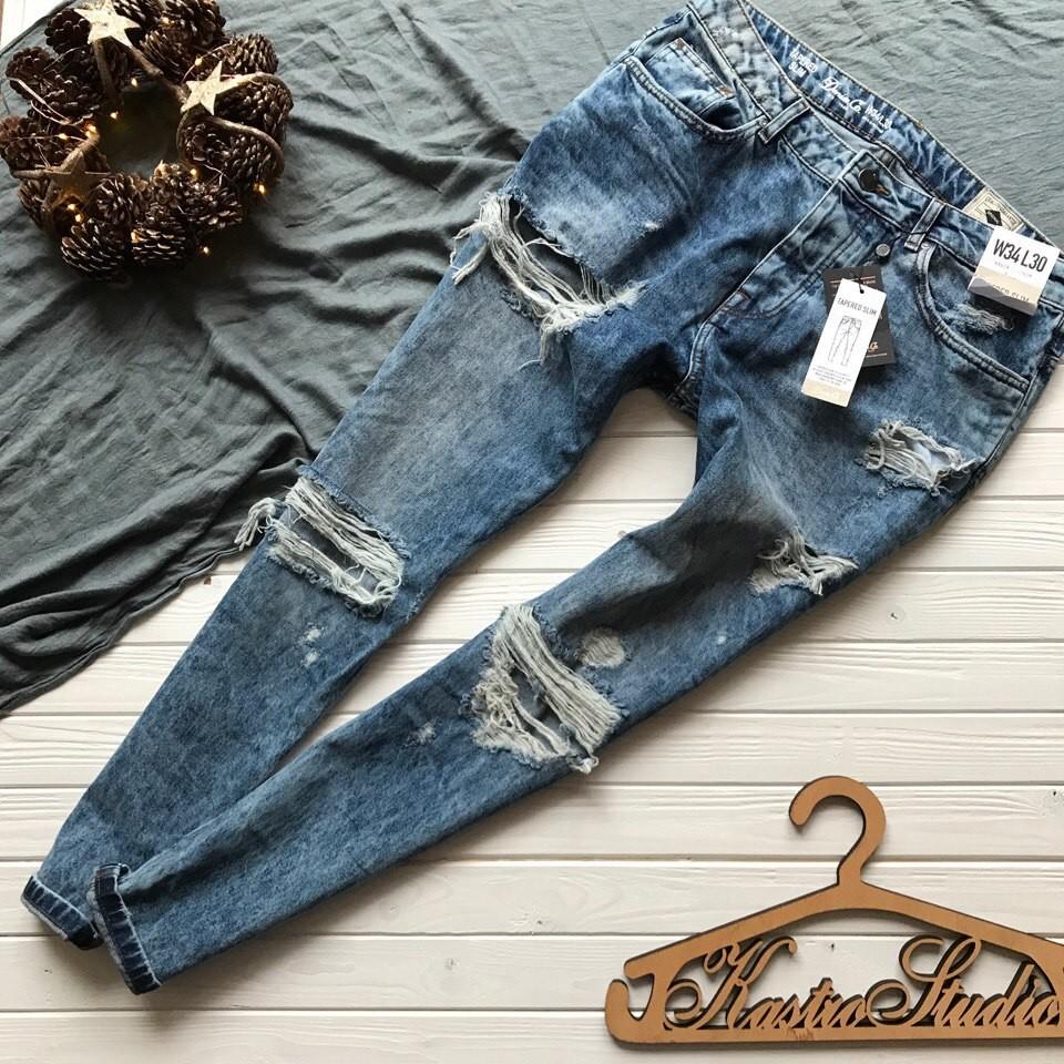 Крутые мужские рваные джинсы denim co рр м-л фото №1