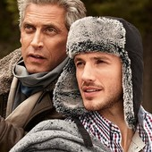 Теплая меховая шапка ушанка Tchibo Германия.размер 57-58