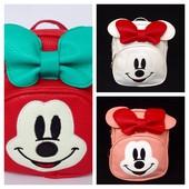 Рюкзачки «Минни с бантиком» три цвета в наличии