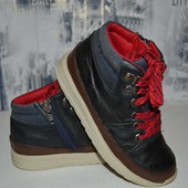 кожаные ботинки 18.5 см