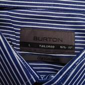 Мужская рубашка в полоску синяя Burton Cotton Rich l