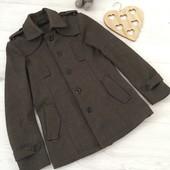 Тёплое пальто мужское S-М или на подростка 14-16 лет, стильное