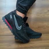 Зимние кроссовки Nike на меху натур кожа, 2 цвета