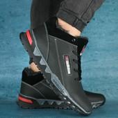 Зимние кроссовки Adidas, на меху, натур кожа, 2 цвета