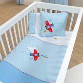 Набор постельного белья Pilot (3 предмета) Funna Baby 5603 Турция бело-голубой 12126053