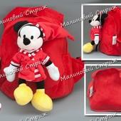 Детский рюкзак Микки маус mikki maus, мягкая игрушка, удобная спинка, регулируемые лямки, мики