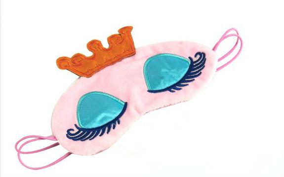 Маска для сна принцесса розовая фото №1
