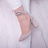 Новинка туфли натуральная замша / кожа код ЛЛ 28788