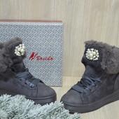 Женские зимние ботинки кеды