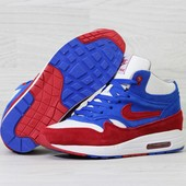 Зимние мужские кроссовки Nike Air Max 90 blue/white
