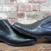 Мужские зимние ботинки, кожа, натуральный мех