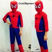 Детский карнавальный новогодний костюм Спайдермен, бэтмен, супермен