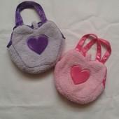 Мягкие сумочки с сердечком. Можно двойняшкам