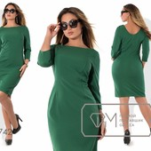 Х7740 Красивое платье 48-54рр 2 цвета