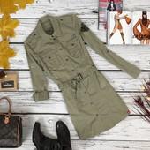Универсальное платье в стиле милитари Esprit из плотного хлопка  OW4770