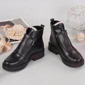 Стильные ботинки Зима Кожа