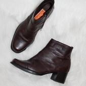 Ботинки кожа кожаные 38 р-р 24.5 см темно коричневые
