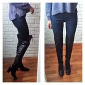 Кожаные ботфорты со шнуровкой  Vero Cuoio
