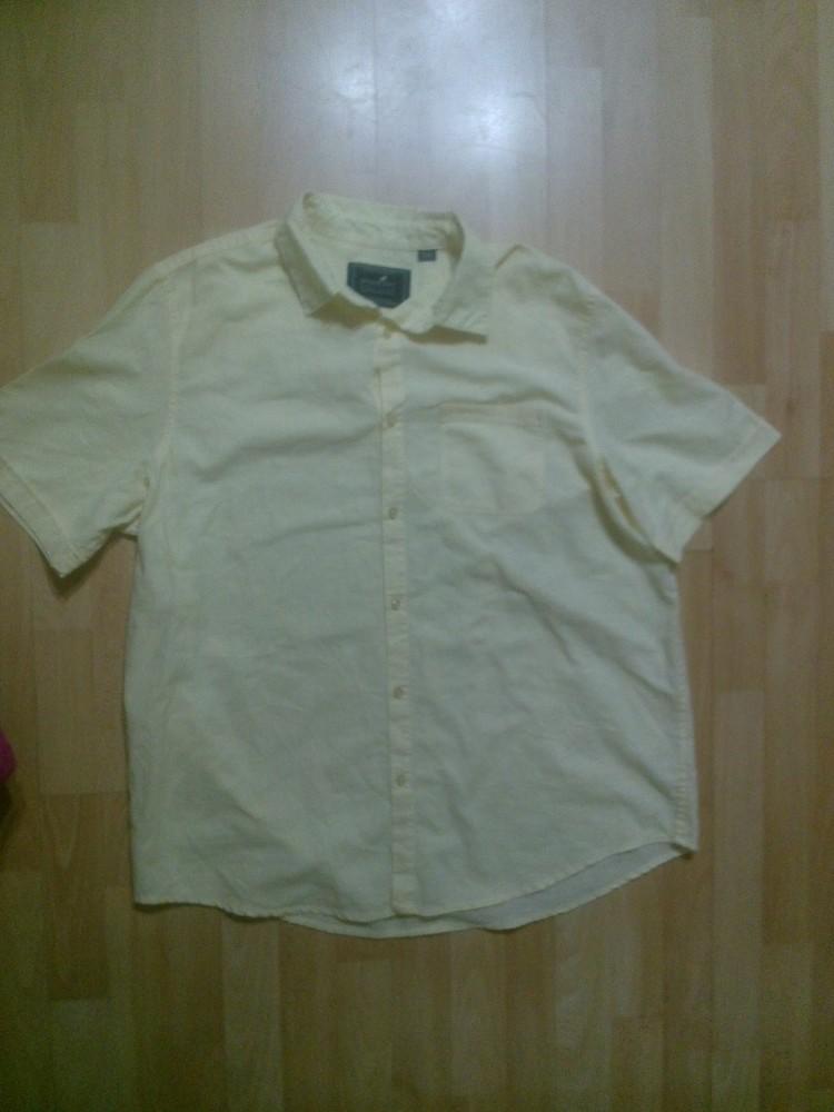 Фирменная рубашка лен+хлопок XL фото №1