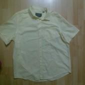 Фирменная рубашка лен+хлопок XL