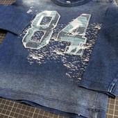 M&S 80-86 (1-1,5 года) яркая футболка с длинным рукавом