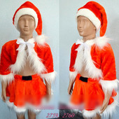 Детский карнавальный костюм Санта Девочка