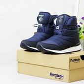Зимние женские ботинки Reebok dark blue