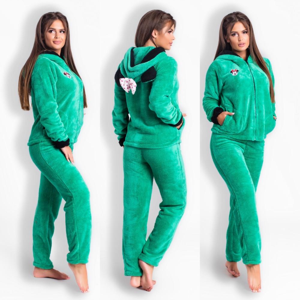 Домашний пушистый теплый костюм пижама с забавными ушками фото №3 5b10ce04bb435