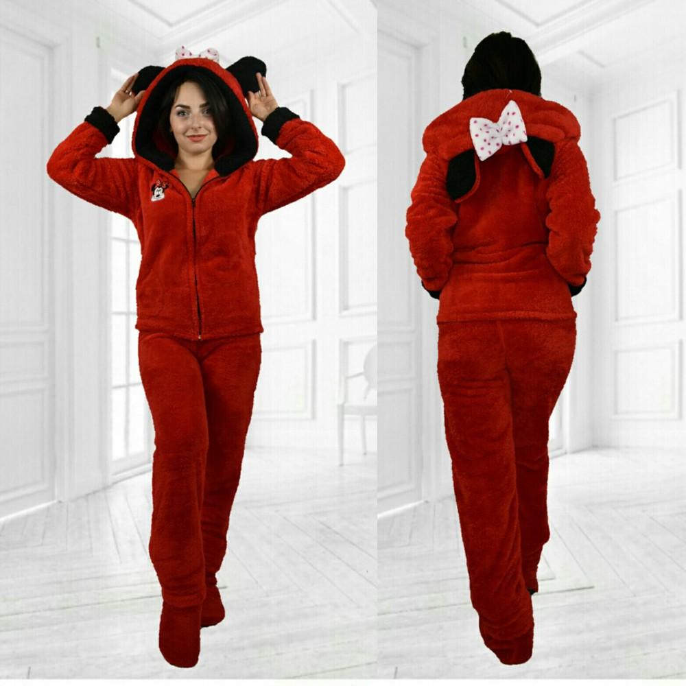 Домашний пушистый теплый костюм пижама с забавными ушками фото №8 c6d919deb81b9