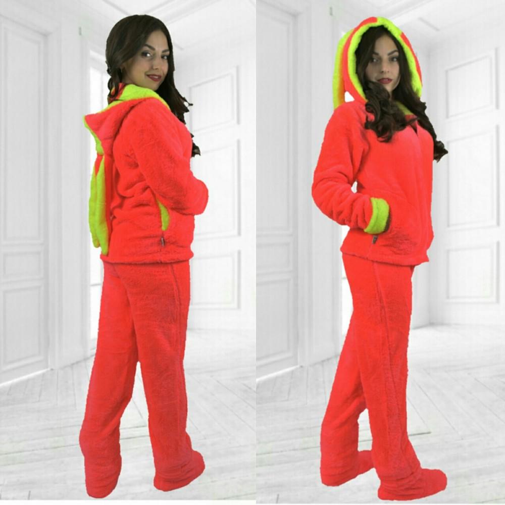 Домашний пушистый теплый костюм пижама с забавными ушками фото №9 14c2bf2fda15f