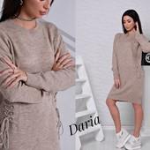 Платье Турция шнуровка 3 цвета 42-46 размеры