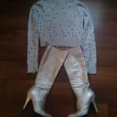 Комплект брендовые сапоги Fellini и свитерок Yimalaier.