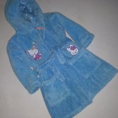 Теплый плюшевый халат M&S 1.5-2 года.